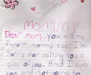 Letter, mommy, and lol image