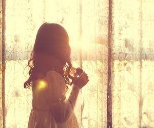 girl, window, and sun image