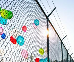 balloons and fence image