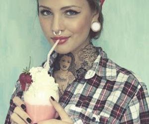 amazing, girl, and milkshake image