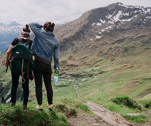 girl, mountains, and friends image