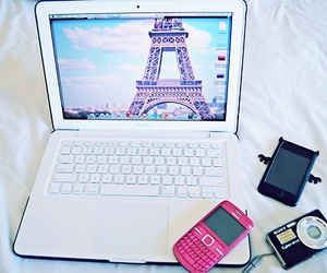 paris, camera, and laptop image