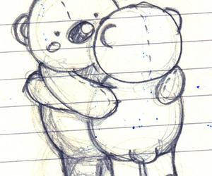 bear, drawing, and cute image