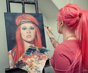 girl, hair, and art image