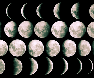 moon, cool, and black and white image