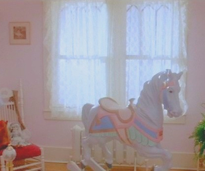 dreamy, horse, and pink image
