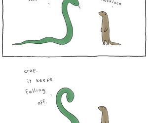 funny, necklace, and snake image