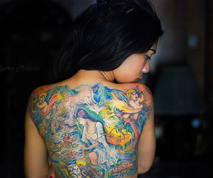 beautiful, tattoo, and beauty image