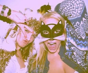 girl, friends, and mask image