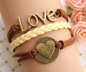 love, bracelet, and heart image