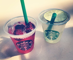 berries, lime, and starbucks image