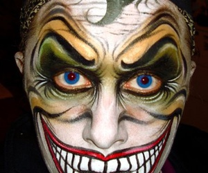 art, scary, and face paint image