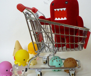 cart, cuteness, and ice image