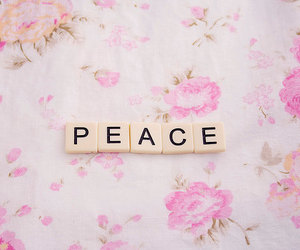 peace, pink, and pastel image