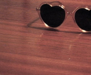 heart shaped, heart-shaped glasses, and lolita image