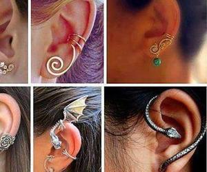 earrings, snake, and dragon image