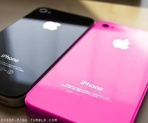 iphone, black, and pink image