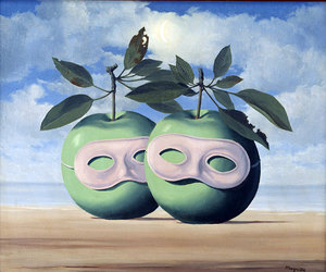 apple, magritte, and painting image