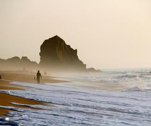 beach, ocean, and Santa Cruz image