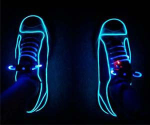 neon, shoes, and lights image