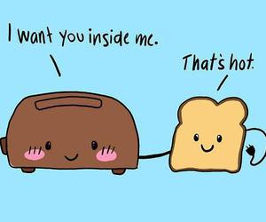 bread, faces, and text image