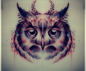 drawing, owl, and wonderful image