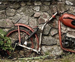 autumn, motorbike, and motorcycle image