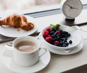 blueberry, coffee, and breakfast image