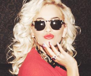 rita ora, blonde, and red image