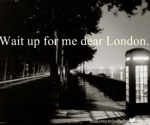 london, black and white, and Dream image