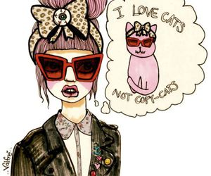 cat, valfre, and drawing image