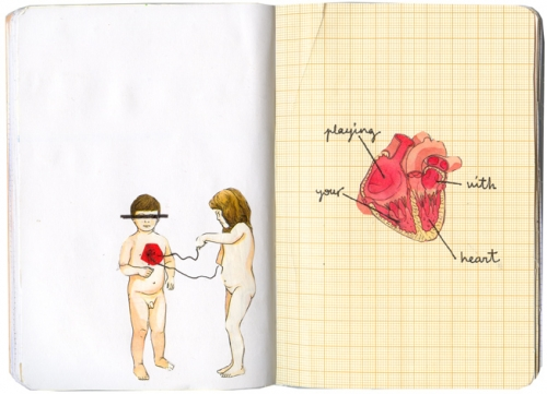 children, Collage, and heart image