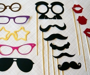 glasses, lips, and moustache image