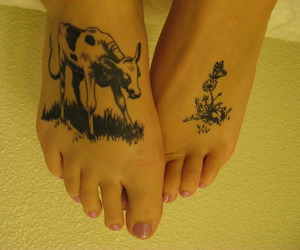 bull, tattoo, and cute image