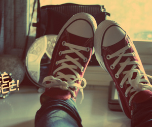 brokenheart, converse, and red image