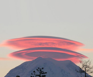 mountain, photo, and pink image