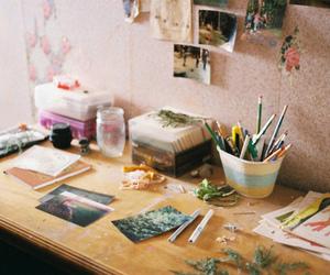 art, vintage, and desk image