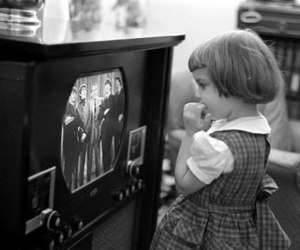 the beatles, tv, and vintage image
