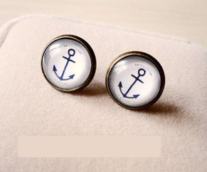 anchor, earrings, and hooks image