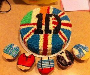 one direction, cake, and 1d image