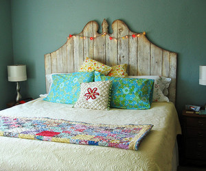 bed, beds, and painted furniture image