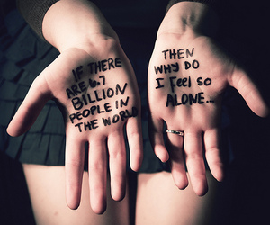 alone, hands, and quote image