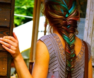 boho, hair dye, and hair:) image