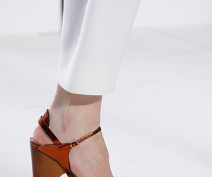chloe, chunky heels, and sandals image