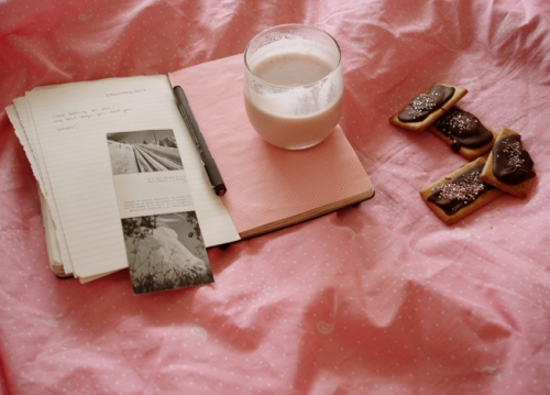 book, Cookies, and journal image