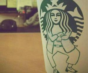 starbucks, gangnam style, and funny image