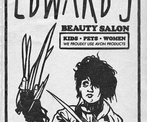 edward, edward scissorhands, and johnny depp image