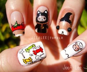 nails, rilakkuma, and Halloween image
