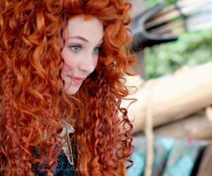 brave, hair, and merida image
