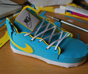 nike, Paper, and shoes image